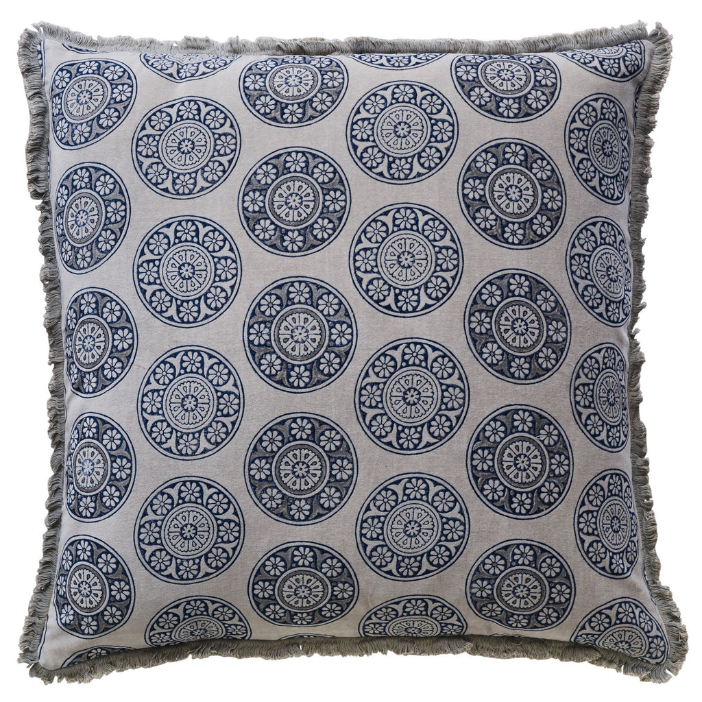 CANVAS NORFOLK PERLA CUSHION COVER 60X60