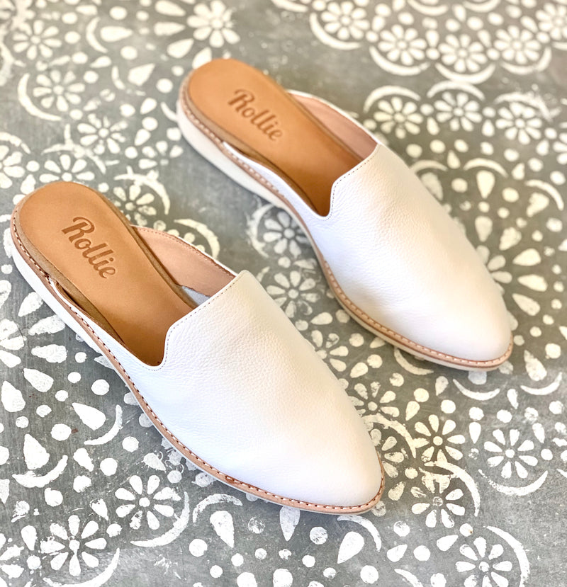 ROLLIE MADISON MULE WHITE UNLINED