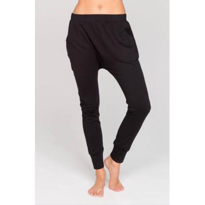 DROP SLOUCH PANTS BLACK
