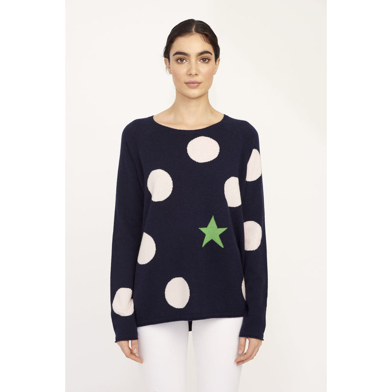 ALESSANDRA SPOT THE STAR JUMPER NAVY