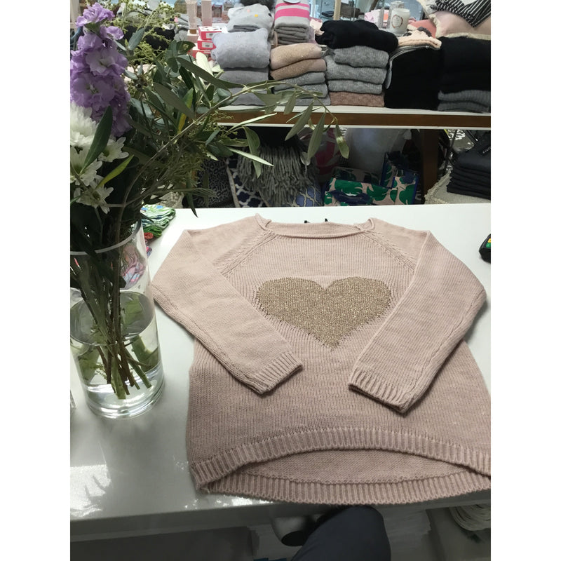 MODA IMAGINE HEARTS JUMPER