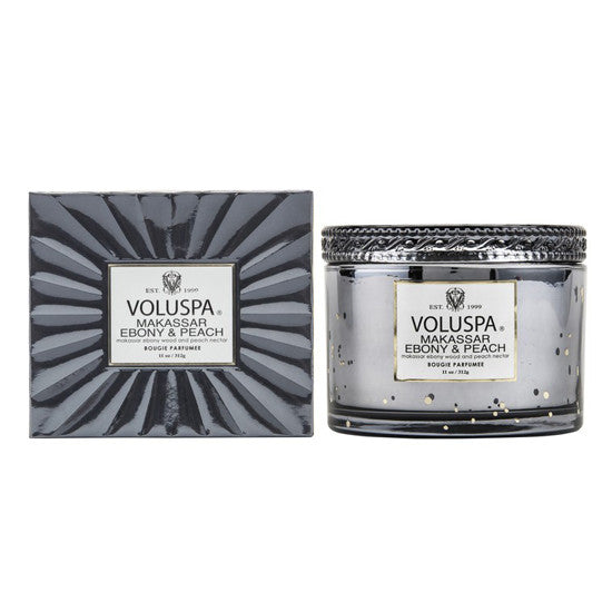VOLUSPA MAKASSAR EBONY & PEACH CORTA CANDLE