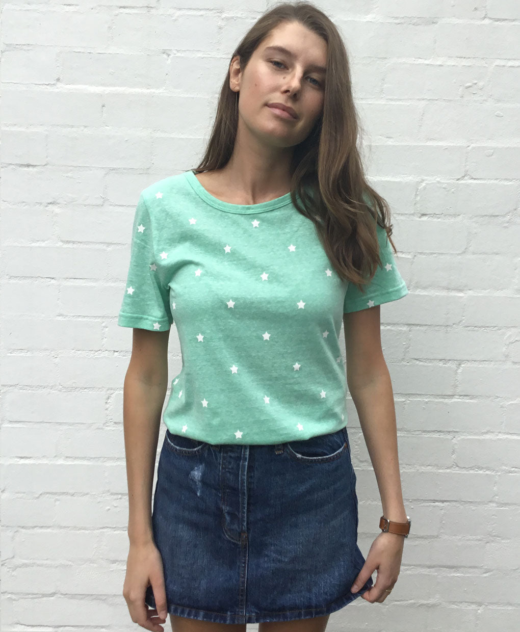 SOPHIE MORAN MINI STAR TEE MINT