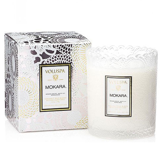 VOLUSPA MOKARA SCALLOPED CANDLE