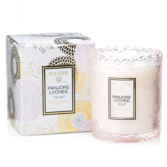 VOLUSPA PANJORE LYCHEE SCALLOPED CANDLE