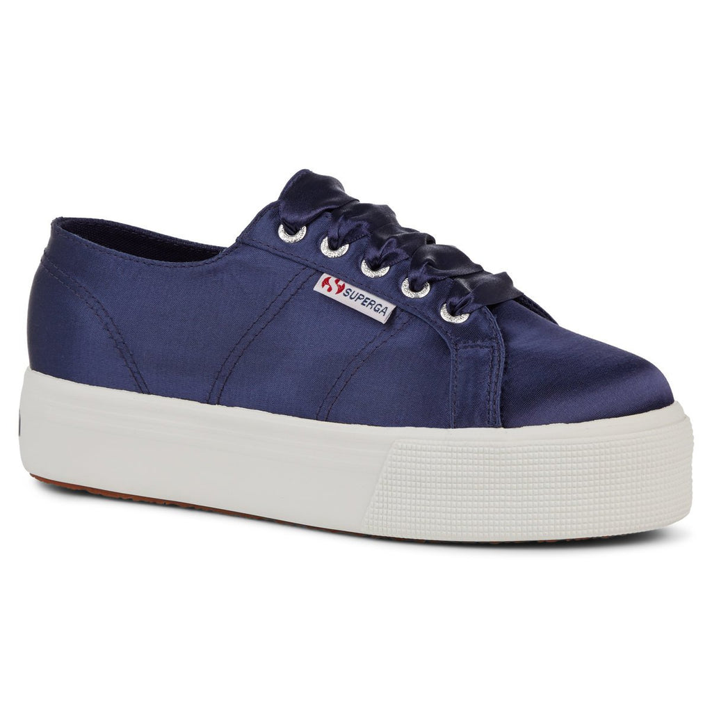 SUPERGA BLUE NAVY SATIN