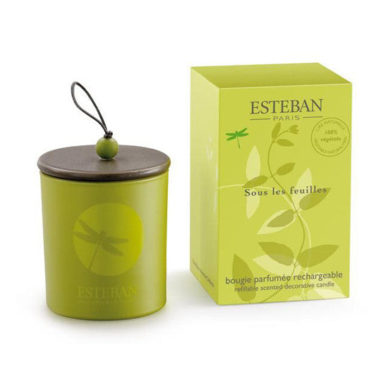 ESTEBAN UNDER LEAVES CANDLE