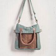 MONA CASPIAN GREEN TOTE BAG