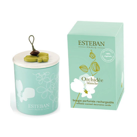 ESTEBAN WHITE ORCHID CANDLE