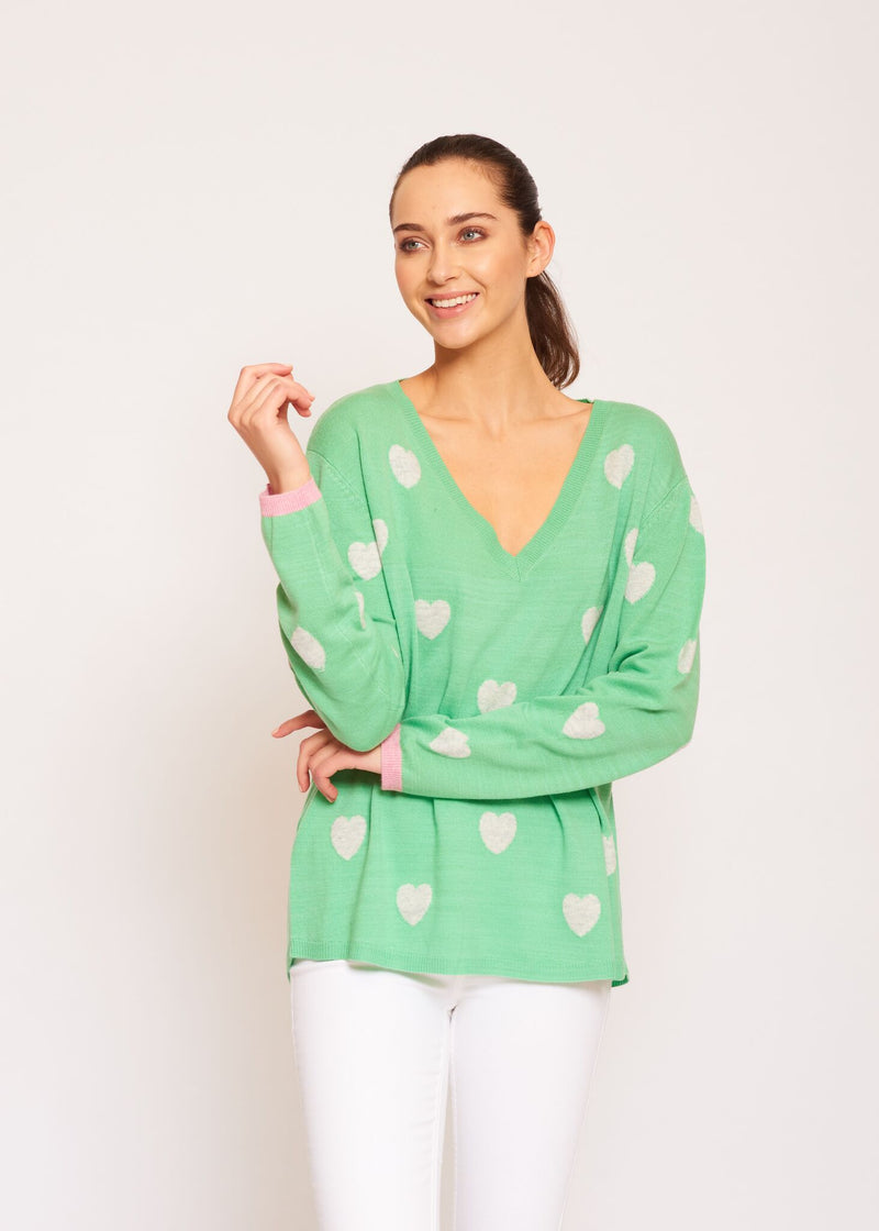 ALESSANDRA HAPPILY EVER AFTER SWEATER SPEARMINT