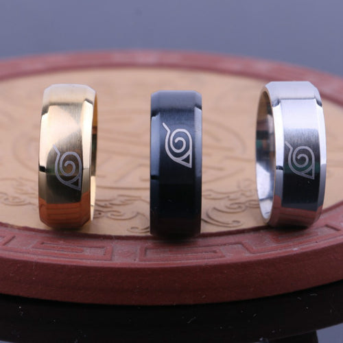 Konoha Stainless Steel Ring - Gaming Raid