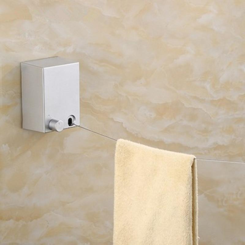 Shower Retractable Clothes Line Wall Mount