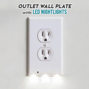LED Motion Sensor Wall Outlet Light