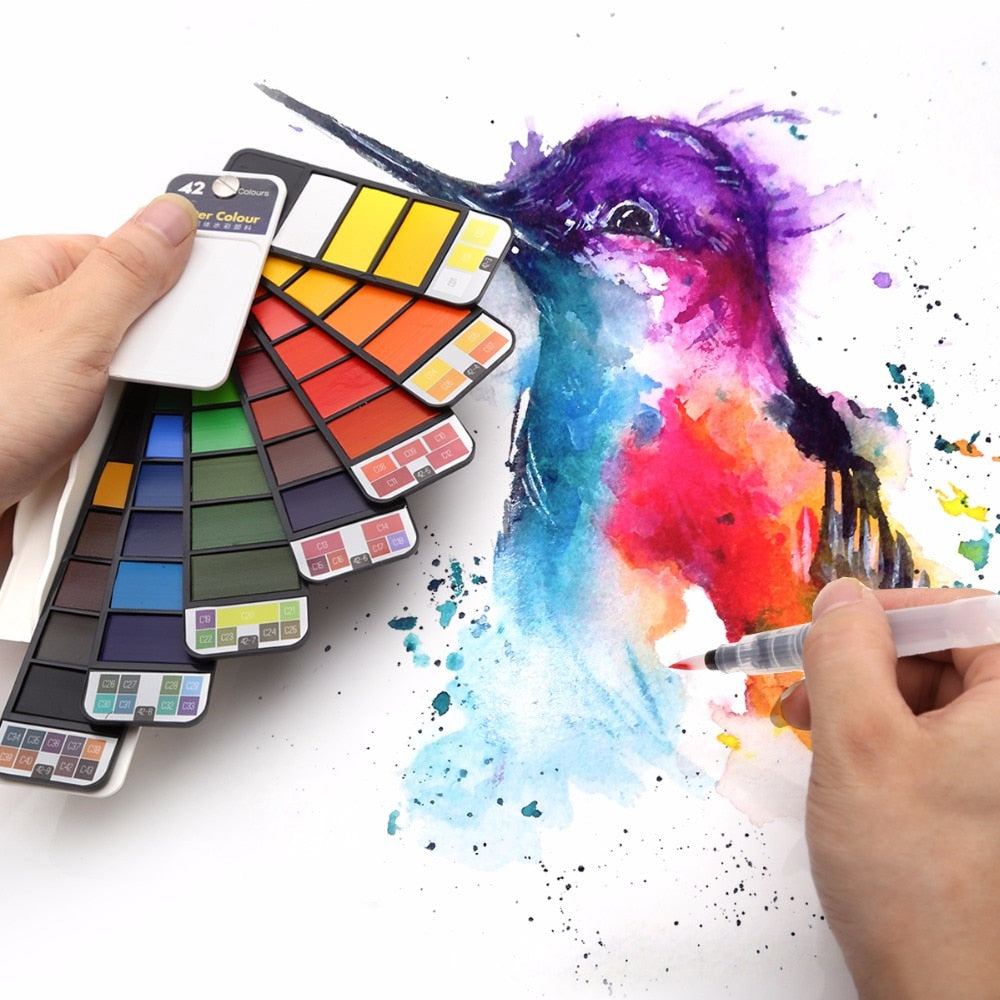 Portable Water Color Painting Kit