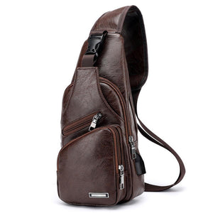Anti-Theft Men's Crossbody Sling Bag