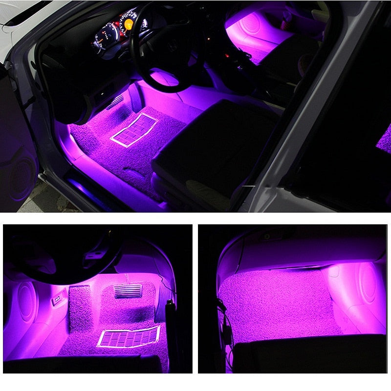 7-Color Car Interior LED Strip