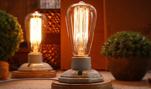 Vintage Incandescent Edison Desk Lamp