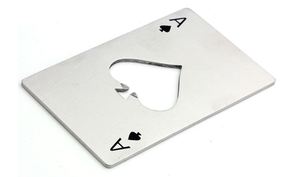 Ace of Spades Stainless Steel Bottle Opener