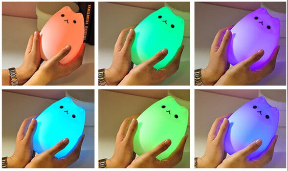 Color Changing Cat LED Night Light