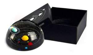 8 Planet Solar System Crystal Paperweight