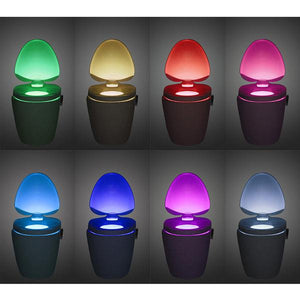 Motion Activated LED Toilet Night Light