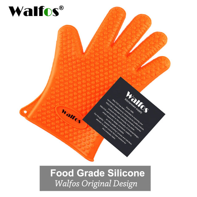 Heat-Resistant Silicone Kitchen Grill Gloves