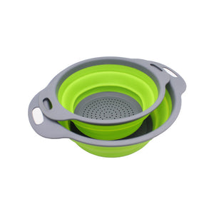 Silicone Collapsible Colander Strainer Set (2 Pcs)