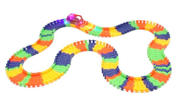 Rainbow Racer™ Glowing Flexible Race Track Set