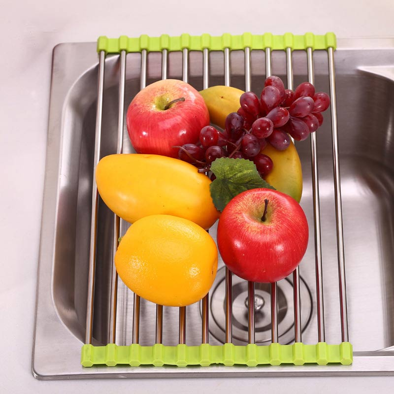 Roll-Up Foldable Sink Drying Rack