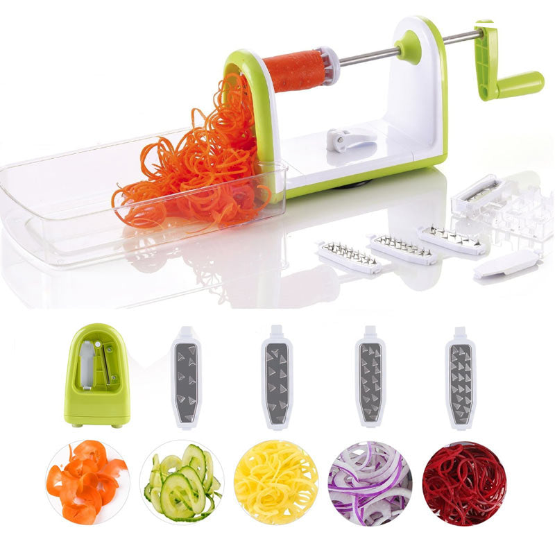 5-in-1 Stainless Steel Vegetable Spiralizer Slicer
