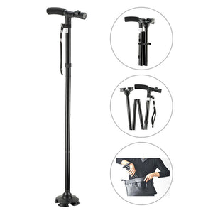 Handy Cane™ LED Light Adjustable Folding Cane