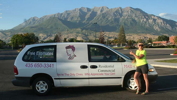 American Bodies Vehicle Graphics Maid 4 You 20 % Increase in Business