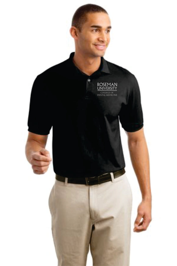 Roseman Dental Hanes® – 5.2-Ounce Sport Shirt. 054X. Embroidered Dental School Logo