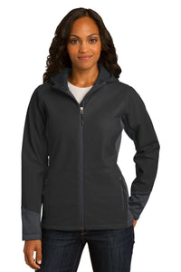 Port Authority® Ladies Vertical Hooded Soft Shell Jacket. L319