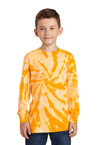 Port & Company® Youth Tie-Dye Long Sleeve Tee.  PC147YLS