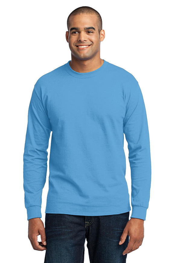 Port & Company® Tall Long Sleeve Core Blend Tee. PC55LST