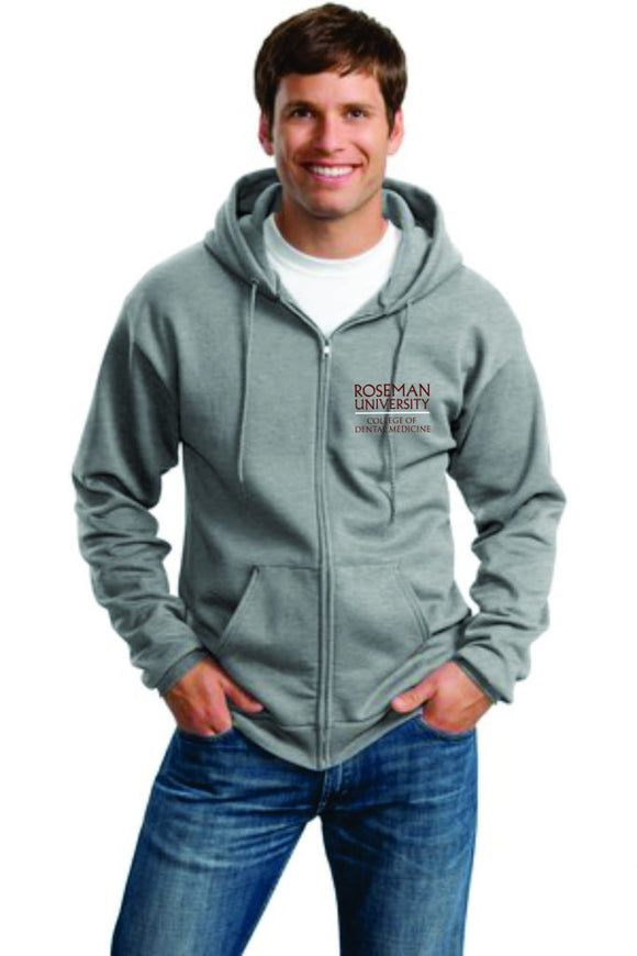 Roseman Zipper Hooded Sweat Shirt Unisex Embroidered Logo