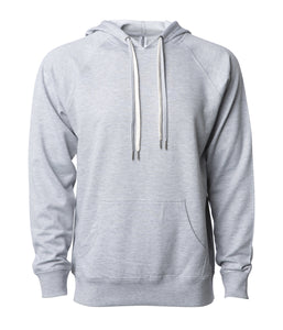 Unisex Lightweight Loopback Terry Hooded Pullover