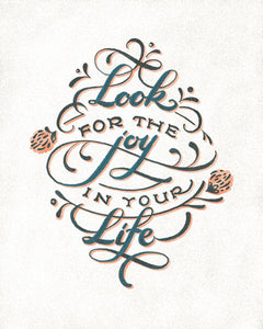 Look for Joy Hand Lettered Print