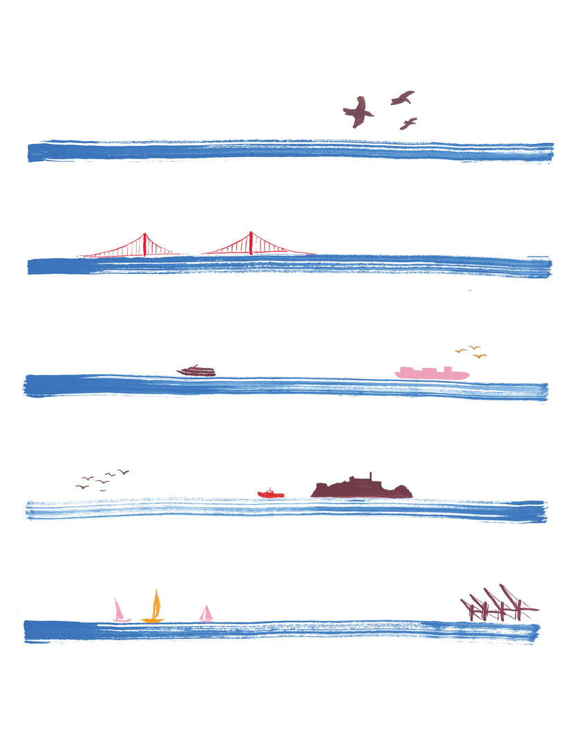 San Francisco Stripes Illustrated Print