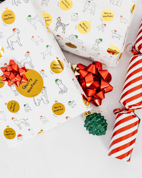 Christmas Paper + Tag (metallic gold)
