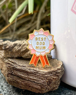 Best Dog Mum Enamel Pin