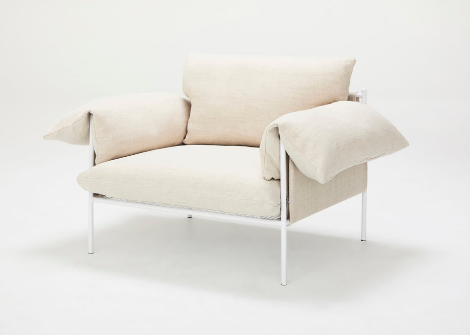 Alva Lounge Chair Linen - Dove