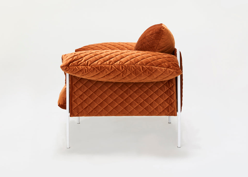 Alva Lounge Chair Velvet - Rust