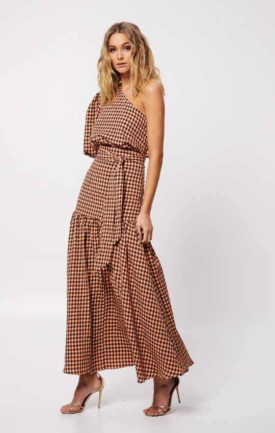 The Checked Out Maxi Dress