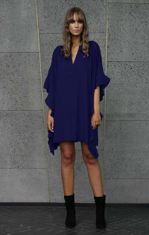 Crave Dress - Navy