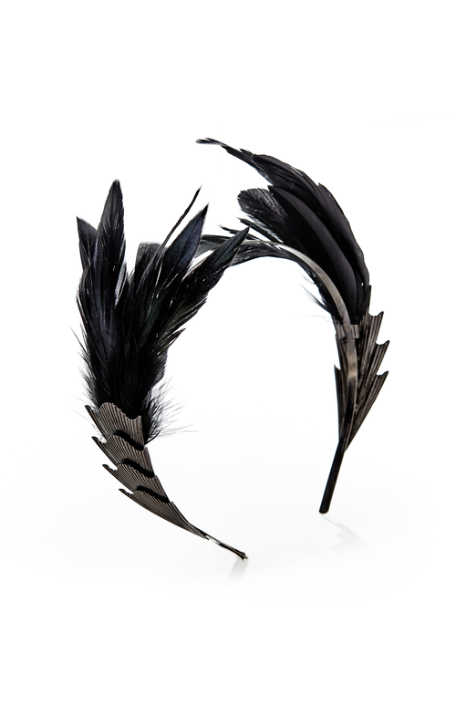 Metal & Feather Headband