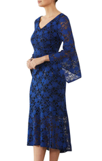 Royal Sequin Lace Dress