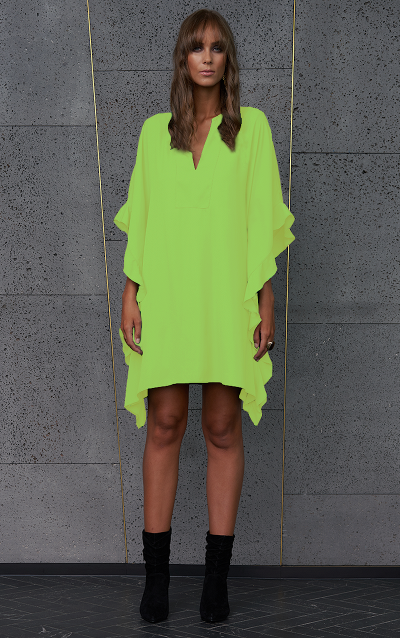 Crave Dress - Neon Lime