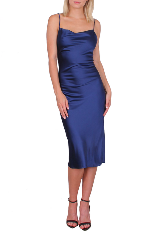 Saffron Dress - Navy